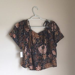 Madewell top in sea floral